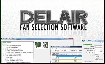 Delair Fan Selection Software